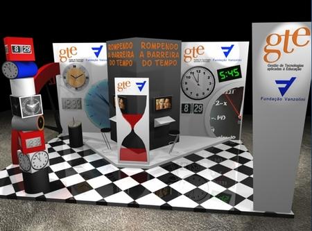 Campus Party - perspectiva do estande da Fundação Vanzolini/GTE